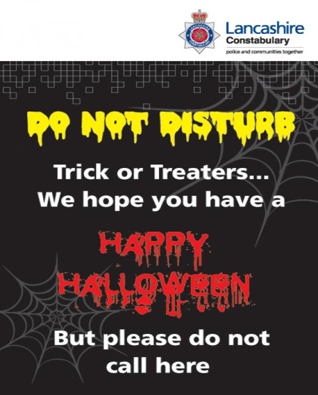 Download the Lancashire police Hallowe'en poster