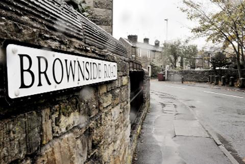 Brownside Road in Worsthorne
