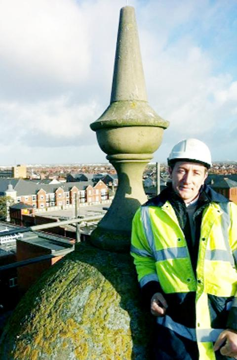 Contracts director Richard Denneny at St Anne's clock tower, Lytham St Anne's