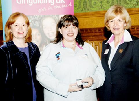 Lara McToal with Baroness Smith and Chief Guide Gill Slocombe
