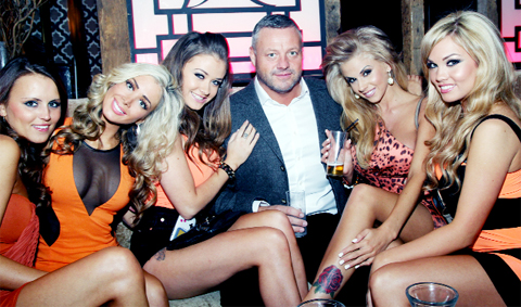 East Lancs-born Mick Norcross with some of the Sugar Hut Honeys