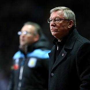 Sir Alex Ferguson saw his side go four points clear by beating Aston Villa
