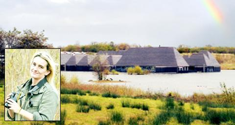 Brockholes nature reserve and (inset) manager Sophie Leadsom