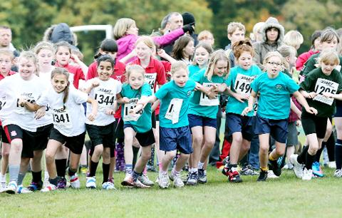 The start of the primary school race