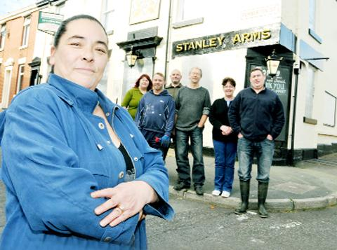 Lancashire Telegraph: Siobhan Coyne with members of the Save Our Stanley group