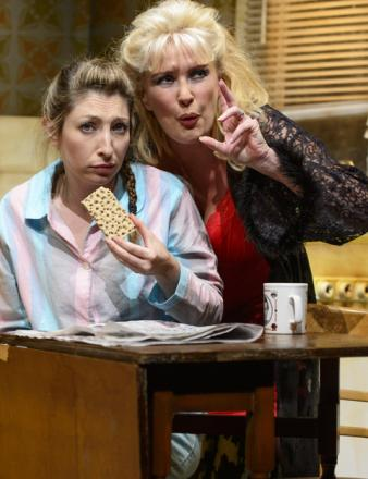 Jess Robinson and Beverley Callard in Little Voice. Photo: Paul Coltas