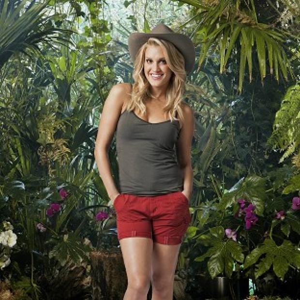 Ashley Roberts got a surprise during the jungle trial