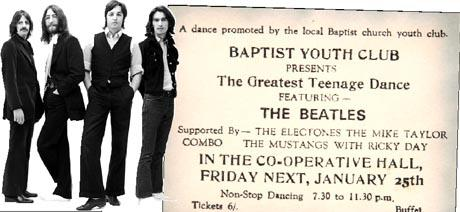 1963 Darwen Beatles performance ticket put up for auction