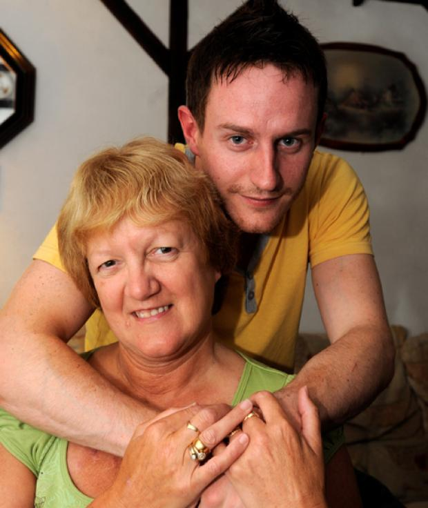 Lancashire Telegraph: Janice Fretwell with son Marc