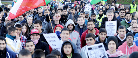 Gallery: Hundreds protest in Blackburn over plight of Palestine
