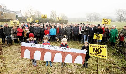 Lancashire Telegraph: Protesters object to the strategy in Whalley