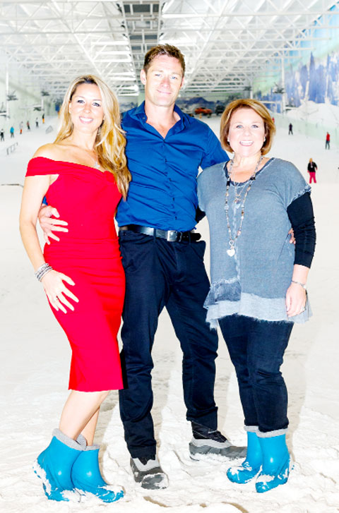 Wendi Peters (right) with co-stars Claire Sweeney and Steven Houghton