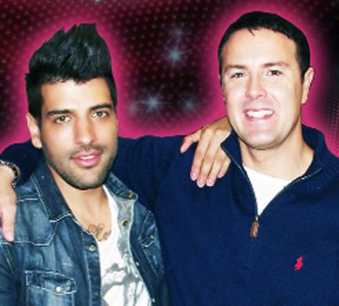 Micky (left) with host Paddy McGuinness
