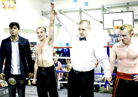 ... fighters take part in kick boxing event (From Lancashire Telegraph