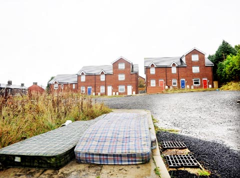 SCRUFFY Fly-tipping and landscaping are among the problems which need tackling on the estate