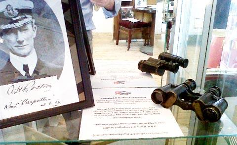 UP FOR GRABS  The field glasses which were presented to Capt Arthur Rostron, of the rescue ship RMS Carpathia