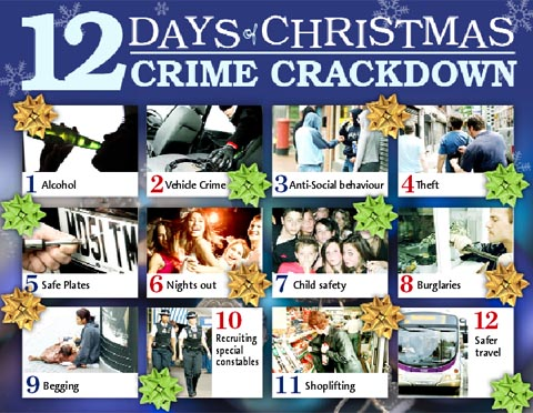 Twelve days of Christmas crime crackdown starts in Burnley