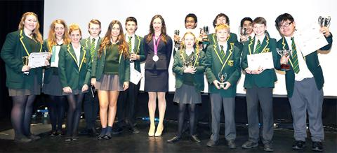 Sam Murray with some of the prizewinners