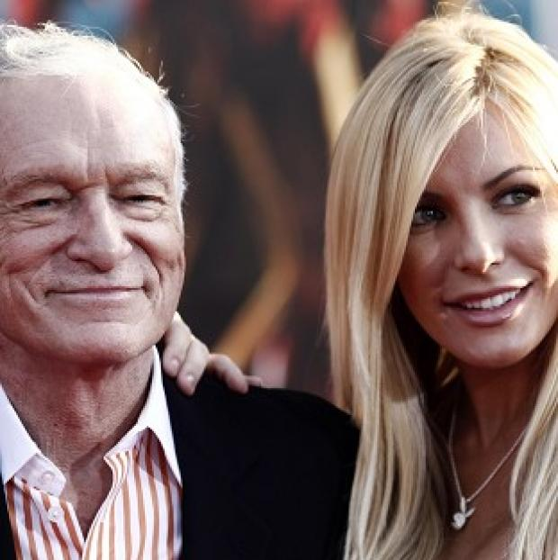 Hugh Hefner and Crystal Harris were previously engaged (AP/Matt Sayles)