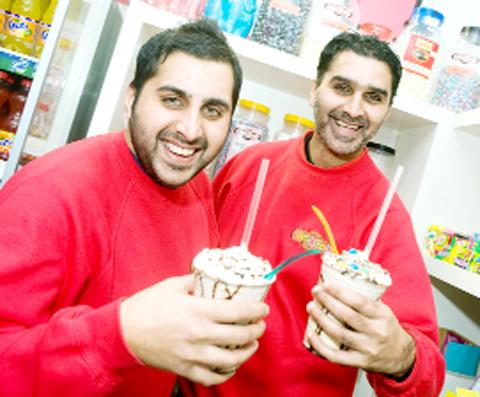 Choc Shop owners Shehraz Akhtar and Nofill Akhtar.
