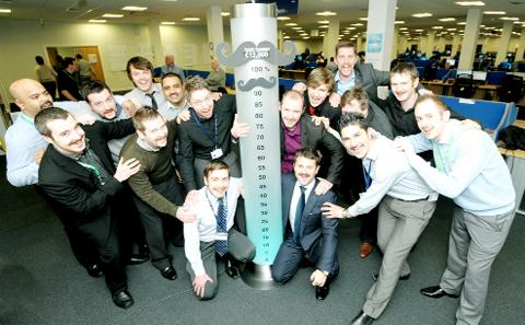 Staff with their Tash-o-meter