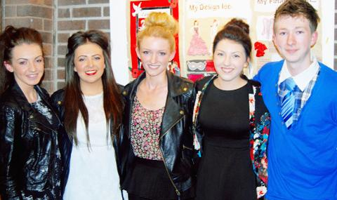 Fearns pupils (from left) Jade Varley, Leigh Wood, Kate Stott, Megan Cartridge and Jordan Houlker.