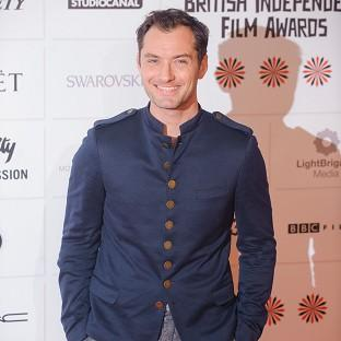 Jude Law arriving at the Moet British Independent Film Awards, at Old Billingsgate in central London