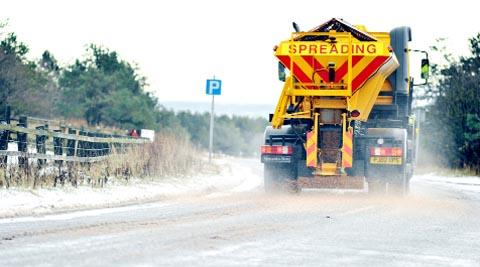 KEEPING US SAFE Gritters out