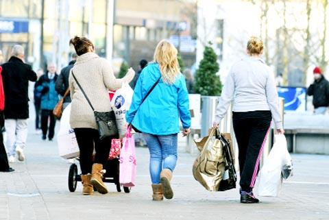 TRADE Shoppers in Burnley