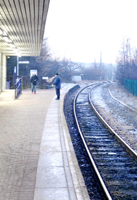 SCENE OF DRAMA Burnley Central railway station