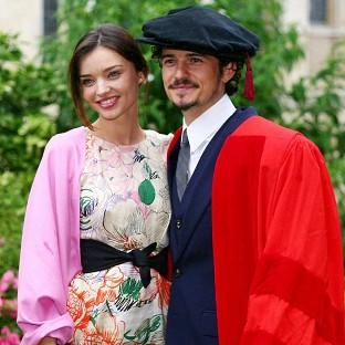 Orlando Bloom and wife Miranda Kerr have denied rumours their marriage is on the rocks