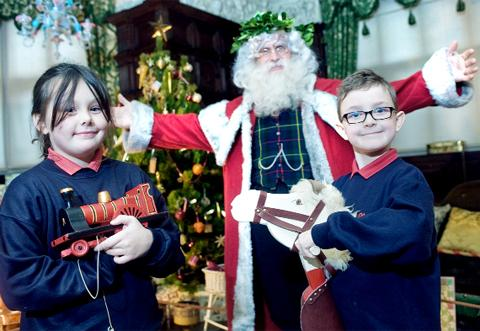 Jenny Todd and Cole Entwistle meet Santa