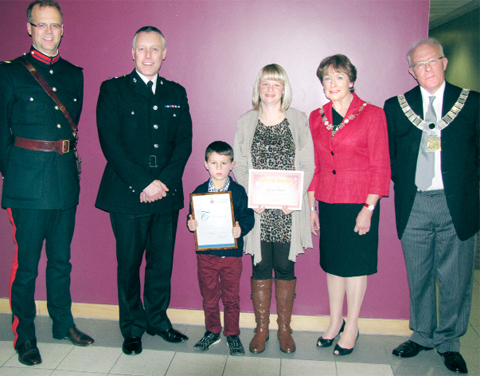 Jacob Carr, 8, was the youngest person to be commended