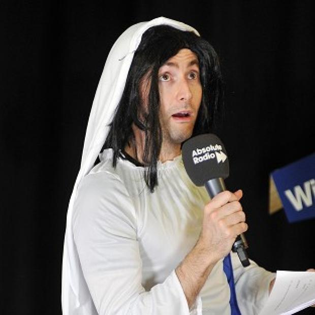 David Tennant played the Virgin Mary during a live nativity performance on Absolute Radio