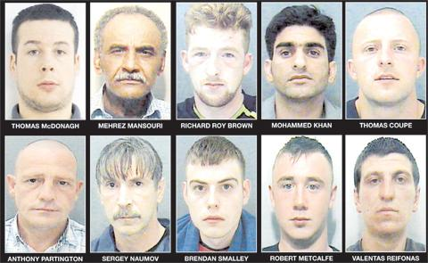 Lancashire Police's 10 most wanted