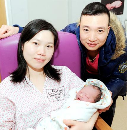 'FANTASTIC' Danny Zheng and Yan Ling with baby Richard