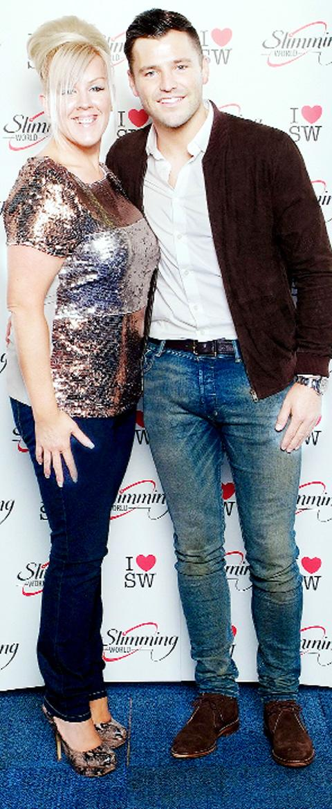 THRILLED Amie Meloy poses for a photo with Mark Wright