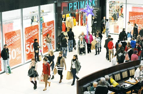 JINGLE TILLS The Mall in Blackburn reported the best trade in the area