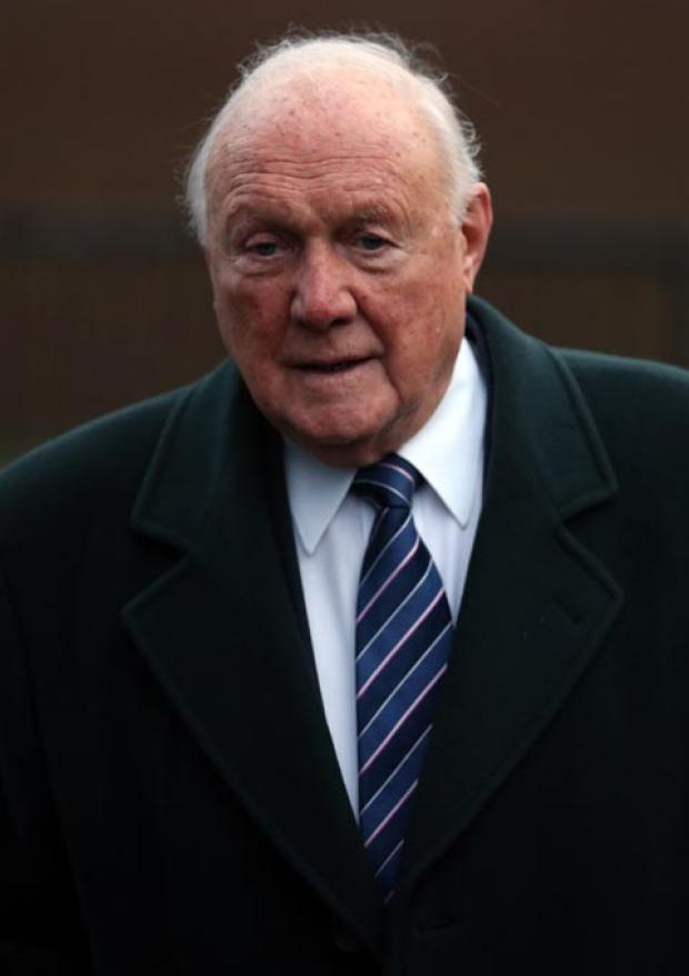 Stuart Hall arrives at court this morning