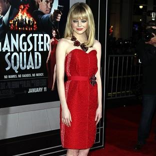 Emma Stone said Gangster Squad wasn't too much of a 'testo fest'