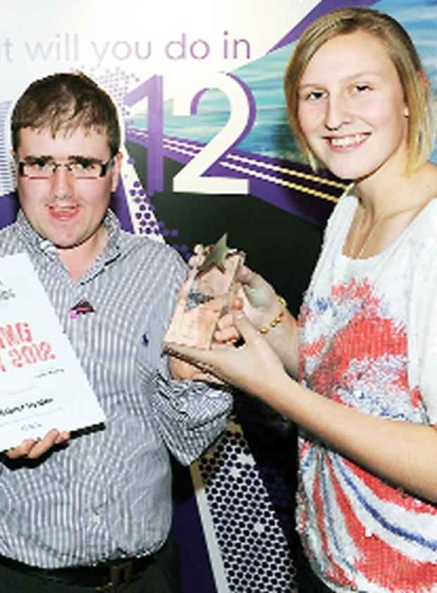 Rob with Team GB athlete Holly Bleasdale and his Rising Star Award