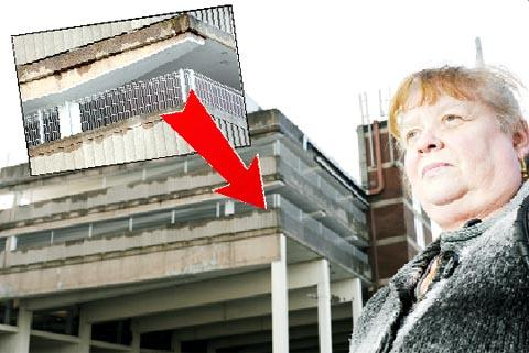 LONG-OVERDUE New safety fencing at the Pendle Rise car park which Coun Eileen Ansar (below) has campaigned for. Far left, the fencing in close-up