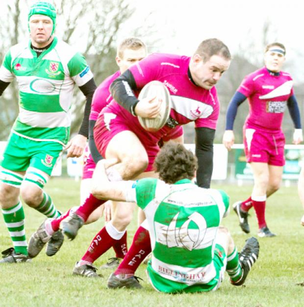 Danny Collins on the rampage against Billingham. Photo: Paul Kilshaw