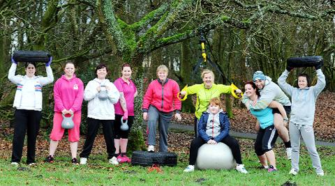 The bootcamp in Cutwood Park