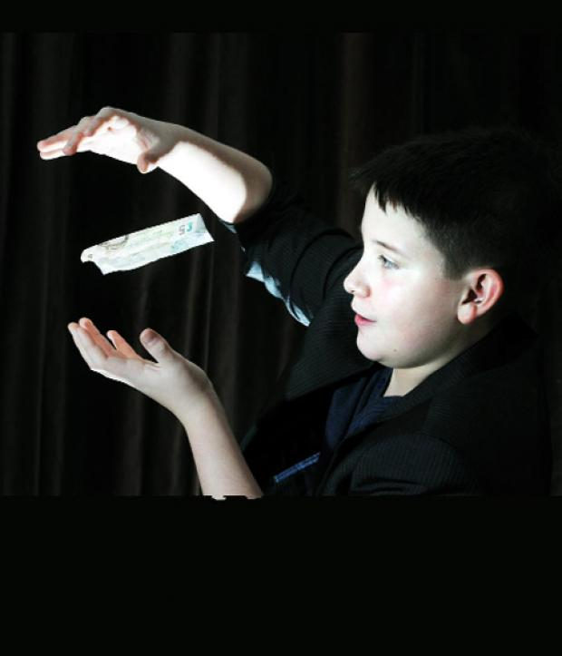 Young magician James Hutchinson