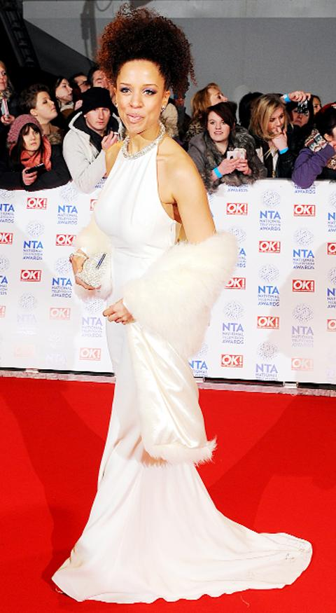 Corrie star Natalie Gumede on the red carpet