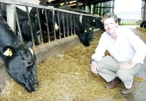 MODERN ERA Simon Barnes whose family has run its 250-year-old farm with 800 acres at Bashall Town for 37 years