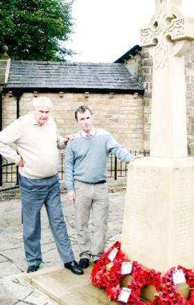 Anthony Ormiston (left) with MP Nigel Evans