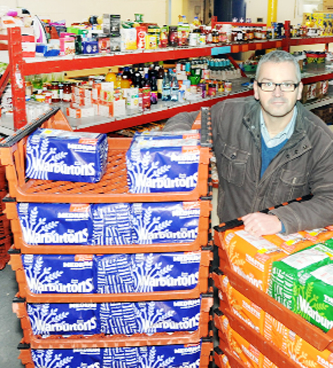 Mark Hirst from Community Solutions Lancashire at Burnley Food Bank