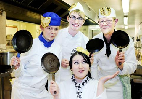 Accrington and Rossendale College students in flip over Pancake Day